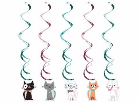 """Dekoracja wisząca """"Wesołe kotki"""", 99 cm, 5 szt. PC329403"""