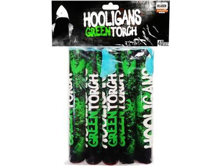Flary meczowe zielone Hooligans Torch P40Z25 - 5 sztuk