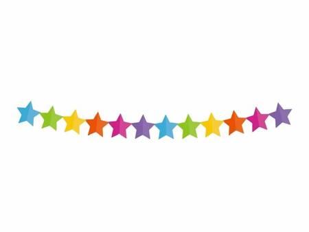 """Girlanda papierowa """"Kolorowe gwiazdki"""", 360x18x18cm PF-GPKG"""