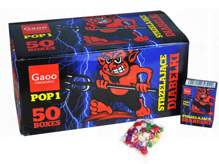 Strzelajace diabełki GAOO POP1 - 50 opakowań (BOX)