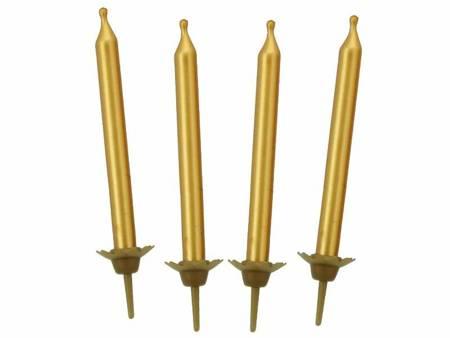 Świeczki B&C urodzinowe złote, 10szt , 5 cm BP560007A