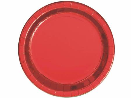 Talerzyki papierowe, czerwone, 18 cm, 8 szt. 51654