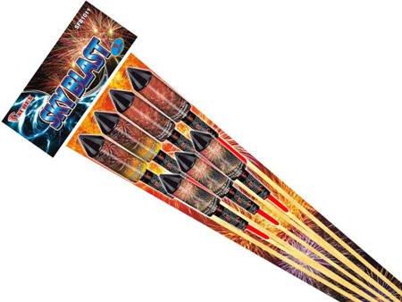Zestaw rakiet Sky Blast SFB1011 - 7 sztuk